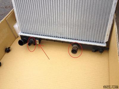 Опель омега радиатор замена