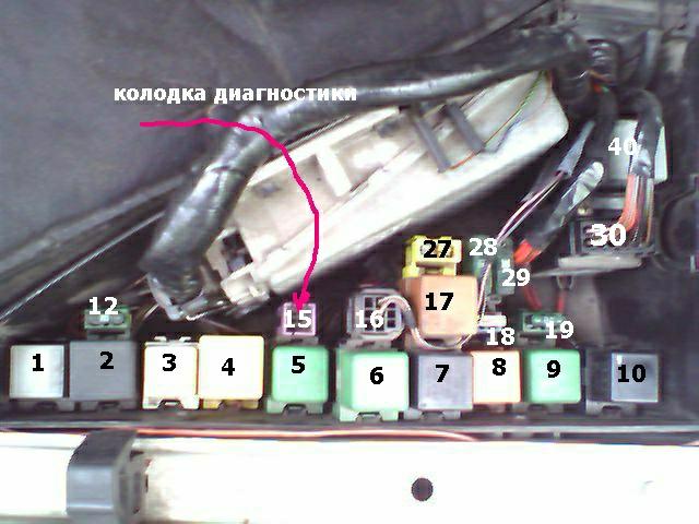 где находится резистор на вентилятор на bmw e39 1997 года