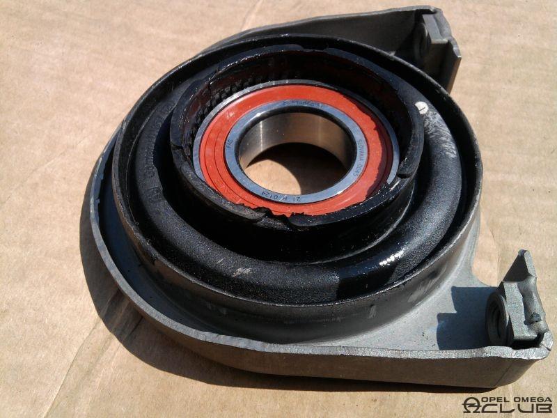подвесной подшипник кардана на opel omega замена