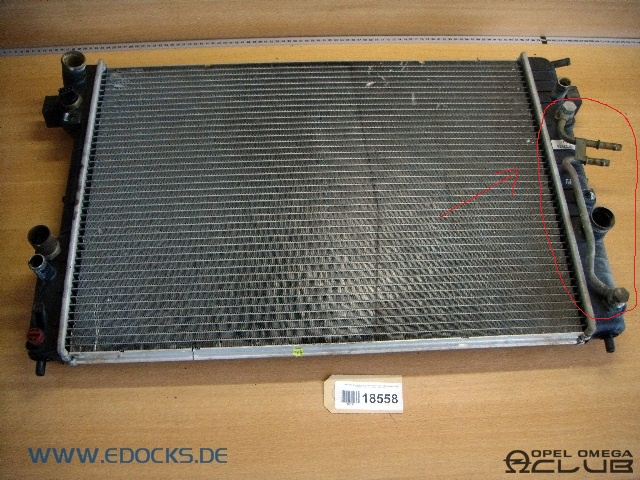 радиатор охлаждения на опель омега б